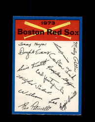 1973 BOSTON RED SOX OPC TEAM CHECKLIST O-PEE-CHEE *G3050