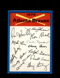 1973 ATLANTA BRAVES OPC TEAM CHECKLIST O-PEE-CHEE *G3052