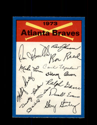 1973 ATLANTA BRAVES OPC TEAM CHECKLIST O-PEE-CHEE *G3053