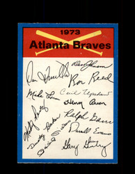 1973 ATLANTA BRAVES OPC TEAM CHECKLIST O-PEE-CHEE *G3054