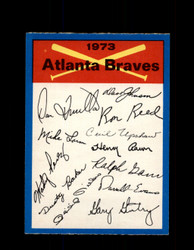 1973 ATLANTA BRAVES OPC TEAM CHECKLIST O-PEE-CHEE *G3055