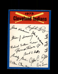 1973 CLEVELAND INDIANS OPC TEAM CHECKLIST O-PEE-CHEE *G3061