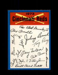 1973 CINCINNATI REDS OPC TEAM CHECKLIST O-PEE-CHEE *G3066