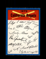 1973 CALIFORNIA ANGELS  OPC TEAM CHECKLIST O-PEE-CHEE *G3067
