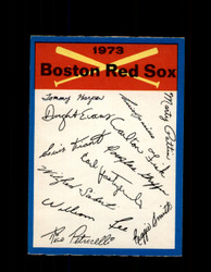 1973 BOSTON RED SOX OPC TEAM CHECKLIST O-PEE-CHEE *G3068