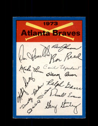 1973 ATLANTA BRAVES OPC TEAM CHECKLIST O-PEE-CHEE *G3070