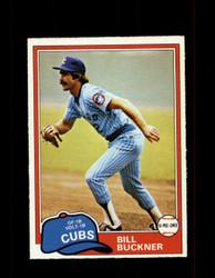 1981 BILL BUCKNER OPC #202 O-PEE-CHEE CUBS GRAY BACK *G3101