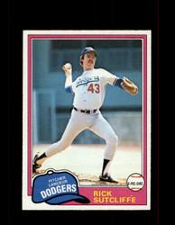 1981 RICK SUTCLIFFE OPC #191 O-PEE-CHEE DODGERS GRAY BACK *G3102
