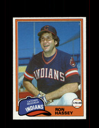 1981 RON HASSEY OPC #187 O-PEE-CHEE INDIANS GRAY BACK *G3103