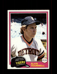 1981 ALAN TRAMMELL OPC #133 O-PEE-CHEE TIGERS GRAY BACK *G3107