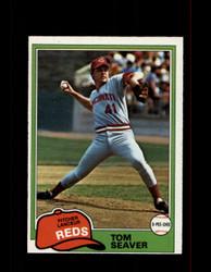 1981 TOM SEAVER OPC #220 O-PEE-CHEE REDS GRAY BACK *G3120