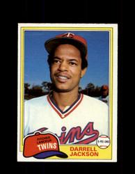 1981 DARRELL JACKSON OPC #89 O-PEE-CHEE TWINS GRAY BACK *G3138