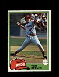 1981 TOM SEAVER OPC #220 O-PEE-CHEE REDS GRAY BACK *R5175