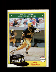 1981  DAVE PARKER OPC #178 O-PEE-CHEE PIRATES GRAY BACK *3566