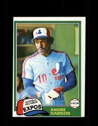 1981 ANDRE DAWSON OPC #125 O-PEE-CHEE EXPOS GRAY BACK *2254