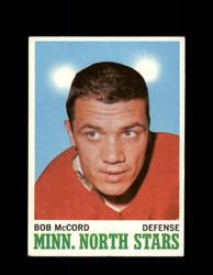 1970 BOB MCCORD TOPPS #41 NORTH STARS *G3205