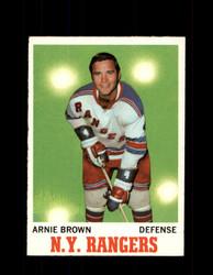 1970 ARNIE BROWN TOPPS #66 RANGERS *G3242