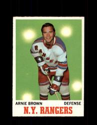 1970 ARNIE BROWN TOPPS #66 RANGERS *G3243