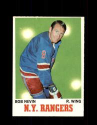 1970 BOB NEVIN TOPPS #60 RANGERS *4906