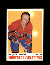 1970 JACQUES LEMAIRE TOPPS #57 CANADIENS *6474