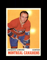 1970 JACQUES LEMAIRE TOPPS #57 CANADIENS *2389