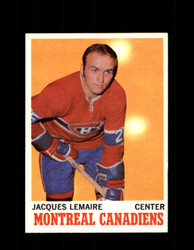 1970 JACQUES LEMAIRE TOPPS #57 CANADIENS *4541
