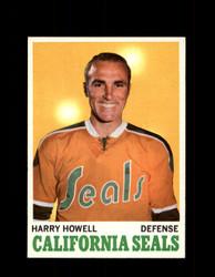 1970 HARRY HOWELL TOPPS #72 SEALS *G3263