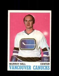 1970 MURRAY HALL TOPPS #118 CANUCKS *4508