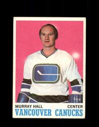 1970 MURRAY HALL TOPPS #118 CANUCKS *G6584