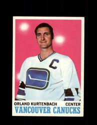 1970 ORLAND KURTENBACH TOPPS #117 CANUCKS *5690