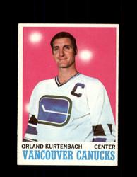 1970 ORLAND KURTENBACH TOPPS #117 CANUCKS *5648