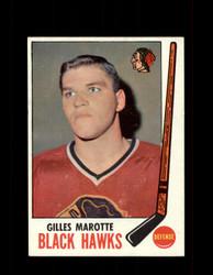 1969 GILLES MAROTTE TOPPS #68 BLACK HAWKS *G3347