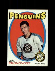 1971 JEAN PRONOVOST TOPPS #118 PENGUINS *G3410