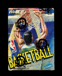 1989 FLEER BASKETBALL WAX BOX OPCB AUTHENTICATED (36 PACKS)