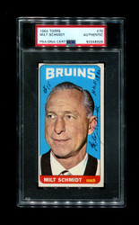 1964 MILT SCHMIDT TOPPS #70 BRUINS COACH AUTO PSA/DNA AUTHENTIC