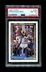 1992 SHAQUILLE O'NEAL TOPPS #362 ROOKIE MAGIC PSA 8