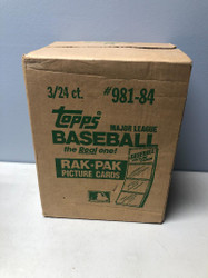 1984 TOPPS BASEBALL FACTORY SEALED 3 BOX RACK CASE