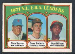 1972 NL ERA LEADERS OPC #91 TOM SEAVER ROBERTS WILSON VG #1285
