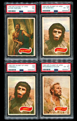 1969 PLANET OF THE APES OPC COMPLETE SET O PEE CHEE PSA GRADED
