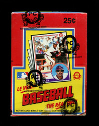 "1983 OPC BASEBALL O PEE CHEE WAX BOX ""TAPE INTACT"""