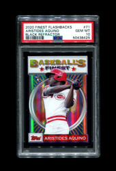 2020 ARISTIDES AQUINO FINEST FLASHBACKS #71 BLACK REFRACTOR /25 PSA 10
