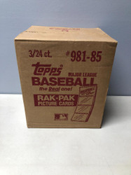 1985 TOPPS BASEBALL 3 BOX FACTORY SEALED RACK CASE