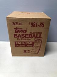 1985 TOPPS BASEBALL 3 BOX FACTORY SEALED RACK CASE