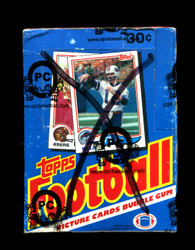 1982 TOPPS FOOTBALL WAX BOX - OPCB AUTHENTICATED