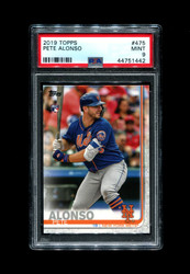 2019 PETE ALONSO TOPPS #475 ROOKIE METS PSA 9
