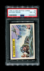 1965 A & BC BATTLE CARDS #6 WATERY DOOM PSA 8