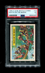 1965 A & BC BATTLE CARDS #12 DEATH ON THE BRIDGE PSA 5