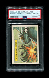 1965 A & BC BATTLE CARDS #17 ATTACK ON THE NAZI CONVOY PSA 8