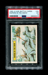 1965 A & BC BATTLE CARDS #20 SNIPERS IN THE SNOW PSA 5