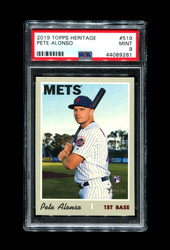 2019 PETE ALONSO TOPPS HERITAGE #519 ROOKIE METS PSA 9